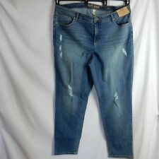 0361c36a24752 Ruff Hewn Plus Skinny Ripped Denim Jeans Natural Waist Skinny Leg Size 22W