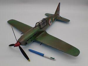 Jouet Ancien WW2 Grand Avion Dewoitine D.520 en Bois