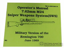Operator's Manual 7.62mm M24 Sniper Weapons System (Reprint)