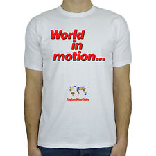 World In Motion - New Order World Cup Exact Replica T-Shirt for Men Him - New