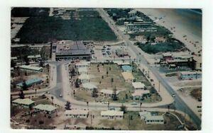 FL Ormond Beach Florida 1958 post card - Bird's Eye View Elinor Village