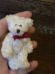 Vintage Collector's Sweet White Miniature Bear