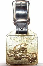 CHALLENGE Cement Truck Transit Mixer Brass Pocket Watch Fob w/Strap Kenworth