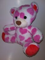 "Animal Adventure Heart Print Bear 9"" Plush Stuffed Animal"
