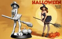 Witch HALLOWEEN - 32mm - DnD - Zombicide Skirmish Bloodbowl Fantasy football D&D