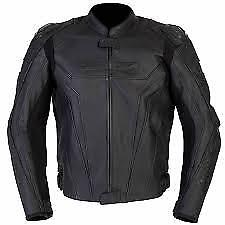 SPADA CORSA GP LEATHER MOTORCYCLE JACKET BLACK SPORTS  RRP £239.99