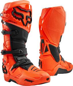 2020 Fox Instinct Motocross Boots Flo Orange UK SIZE 12 BNIB