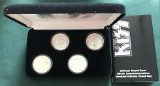 Kiss Alive Worldwide Tour 1996-1997 Silver Proof 4 Coin Set Rare W/.Box Coa.