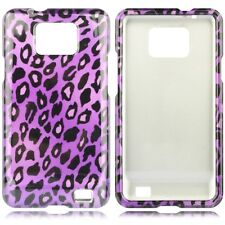For AT&T Samsung Galaxy S II 2 HARD Protector Case Phone Cover Purple Leopard
