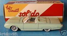 FORD THUNDERBIRD 1963 SOLIDO 1/43 VERT CLAIR ROADSTER