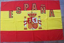 BANDIERA ESPANA SPAGNA REALE CORONA SCUDO FLAG grande cm.100 X 140 ESPANA
