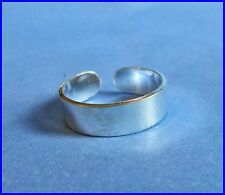 Ring 4 mm ! Brand New ! Sterling Silver (925) Adjustable Solid Band Toe