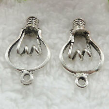 Free Ship 88 pieces tibet silver lamp bulb pendant 35x20mm #210