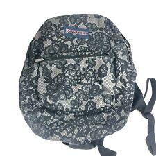 Jansport Backpack Black flower print