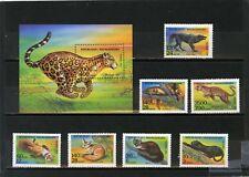 MADAGASCAR 1994 Sc#1182-1189 africain ANIMAUX JEU DE 7 timbres & S/S MNH