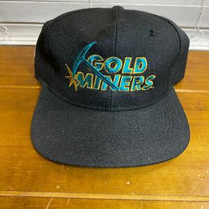 Vintage Sacramento Gold Miners Football CFL Snapback Hat Cap
