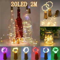 6/12/18pcs LED Copper Cork Shaped String Light Wine Bottle Wire Strip Fairy Lamp
