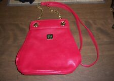 Liz Claiborne Accessories Leather Crossbody Shoulder Bag Purse Handbag Red