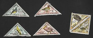 Mauritania: 1963 birds (postage due); SG D177-82 incomplete mint set