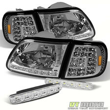 97-03 Ford F150 Expedition Led Headlights +Full Led Corner Signal+Smd Bumper Fog