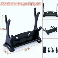 Sword Dagger Cane Gun Table Top Stand Double Display Stand Rack V3N9