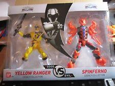 Power Rangers - Good VS Evil - YELLOW Ranger VS SPINFERNO LGCY COLL - NIB