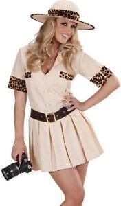 Safari Jungle Explorer Tarzan Crocodile Hunter Ladies Fancy Dress Costume S-XL