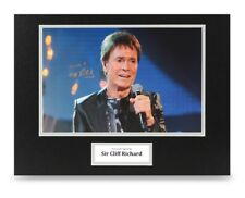 Sir Cliff Richard Signed 16x12 Photo Display Music Autograph Memorabilia + COA