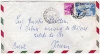 1817 - Repubblica - 170 lire Visita Gronchi su busta via aerea per Brasile, 1962