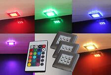 LED RGB Unterbauleuchte Schrankleuchten Set Möbelleuchte Regalbeleuchtung H-2118