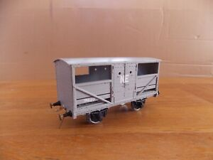 KIT BUILT LARGE CATTLE WAGON No 196127 in NE Grey Livery. O Gauge.