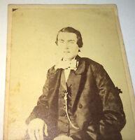 Antique American Civil War Fashion Handsome Young Man Philadelphia, PA CDV Photo