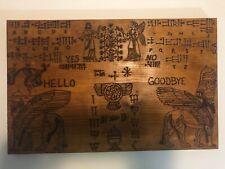 "hand made wooden ouija spirit talking board ""Mesopotamian"""