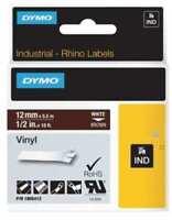 "Dymo 1805412 1/2"" x 18 ft Brown Vinyl Labels (White Print)"