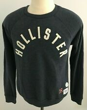 Hollister Women's Long Sleeve with Patches Blue Sweatshirt Size: L