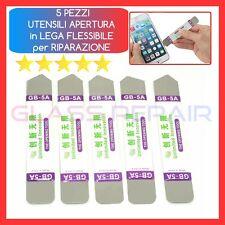 5 PEZZI Utensile APERTURA in Metallo SMONTAGGIO RIPARAZIONE per Cellulare Tablet