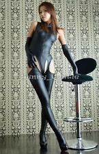 Sexy Womens Lingerie Lady Catsuit Bodysuit Crotchless Leggings Outfit Jumpsuits