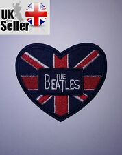 Beatles Union Jack Heart Iron-on/sew-on Embroidered Patch