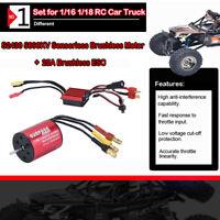 S2430 5800KV Brushless Motor und 25A Brushless Regler für 1/16 1/18 RC Auto