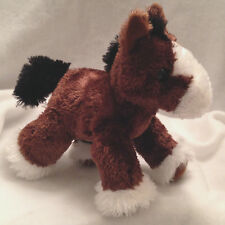 """Clydesdale Horse Gift Of Smiles Collection Stuffed Plush Silky Soft Aurora 8"""""""