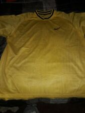 Nike Breathable Mesh Athletic 100% Polyester Lightweight Yellow Shirt Men's Xl