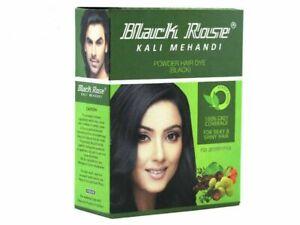 Black Rose  Black MehandI  Herbal Henna Powder Gray Hair Dye Color -10 GM