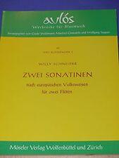 Zwei Sonatinen nach europäischen Volksweisen (für zwei Flöten) von W. Schneider