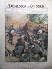 La Domenica del Corriere 7 Gennaio 1912 Tripolitania Petrini Indie Eritrea Zara