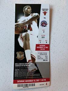 Chicago Bulls Vs Toronto Raptors 2007 Unused Tcket