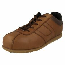 Unisex Magnum Brown  Leather Lace up Steel Toe Cap shoes Hawk Size Uk 6
