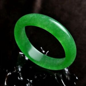 Antique Chinese JADE Jadeite Bangle Handmade Natural Green Stone Bracelet UK