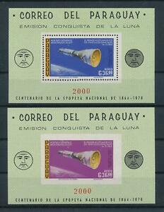 [105533] Paraguay 1966 Space travel weltraum Perf. + Imperf. Sheet MNH