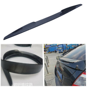 For Sedan Hatchback Car Sport Rear Wing Spoiler Sticker Trunk Tail Accessories