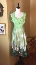 ZAFUL Size 2x XXL Fit-n-Flair Dress Alp Mountain '50s Rockabilly MadMen $99 NEW
